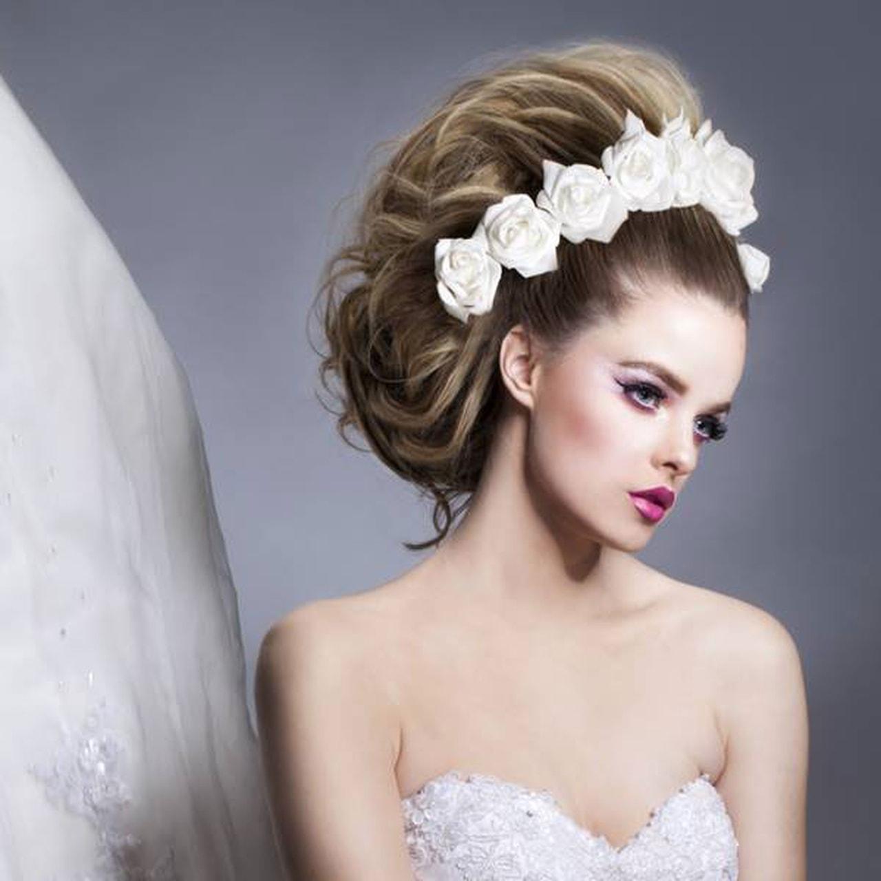 صور احلى تسريحه عروس , تسريحات روعة للعروسة