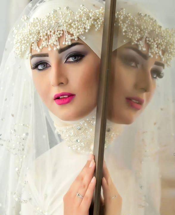 بالصور صور عرايس محجبات , صور بنات محجبه فى العرس 3001 9