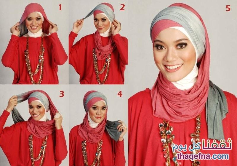 بالصور صور لفات حجاب , اثبتى وجودك بجمال لفة حجابك 6317 4
