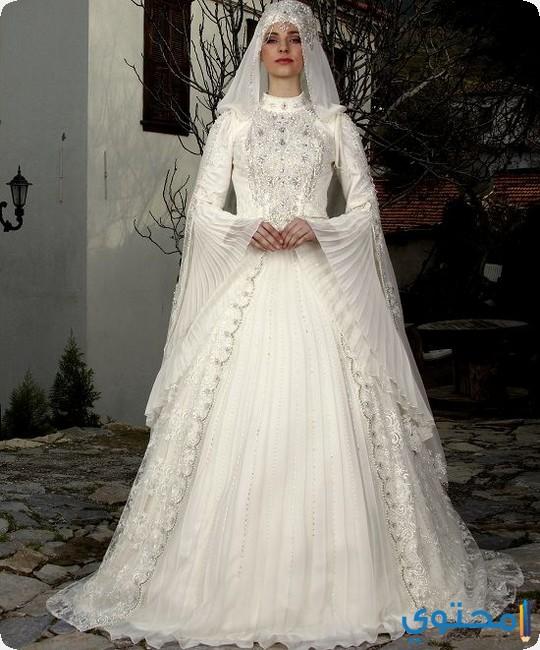 صورة فساتين اعراس للمحجبات , اشيك فساتين ممكن ان ترتديه المحجبات
