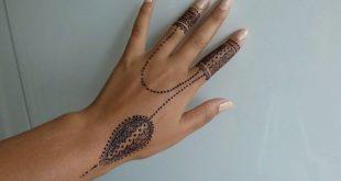 صورة نقش حناء خفيف , اجمل الرسومات البسيطة بالخضاب