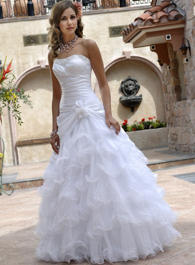 بالصور فساتين زفاف فخمه , اجمل فساتين الزفاف 4839 2