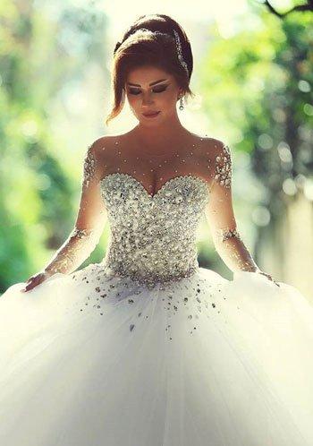 بالصور فساتين زفاف فخمه , اجمل فساتين الزفاف 4839
