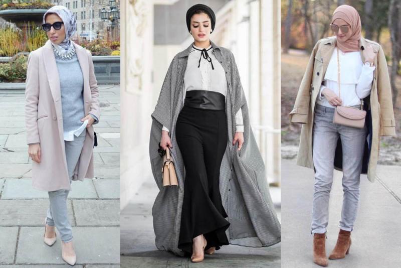 صور ملابس محجبات 2019 , بنات محجبة بملابس احدث صيحات الموضة