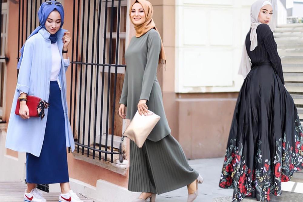 بالصور ملابس محجبات 2019 , بنات محجبة بملابس احدث صيحات الموضة 178 11