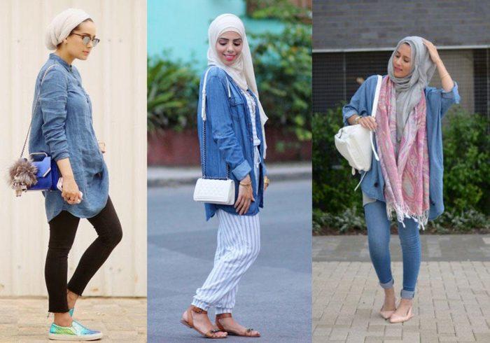 بالصور ملابس محجبات 2019 , بنات محجبة بملابس احدث صيحات الموضة 178 12