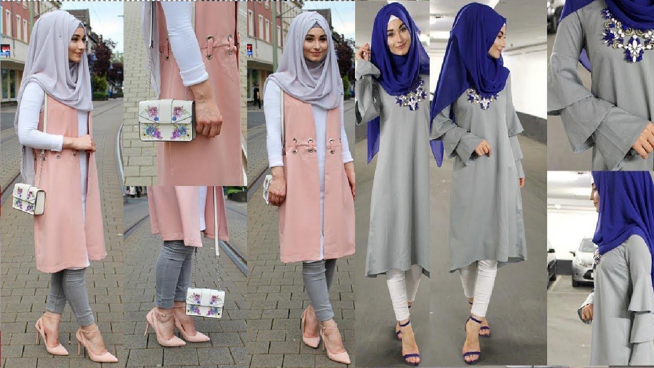 بالصور ملابس محجبات 2019 , بنات محجبة بملابس احدث صيحات الموضة 178 4