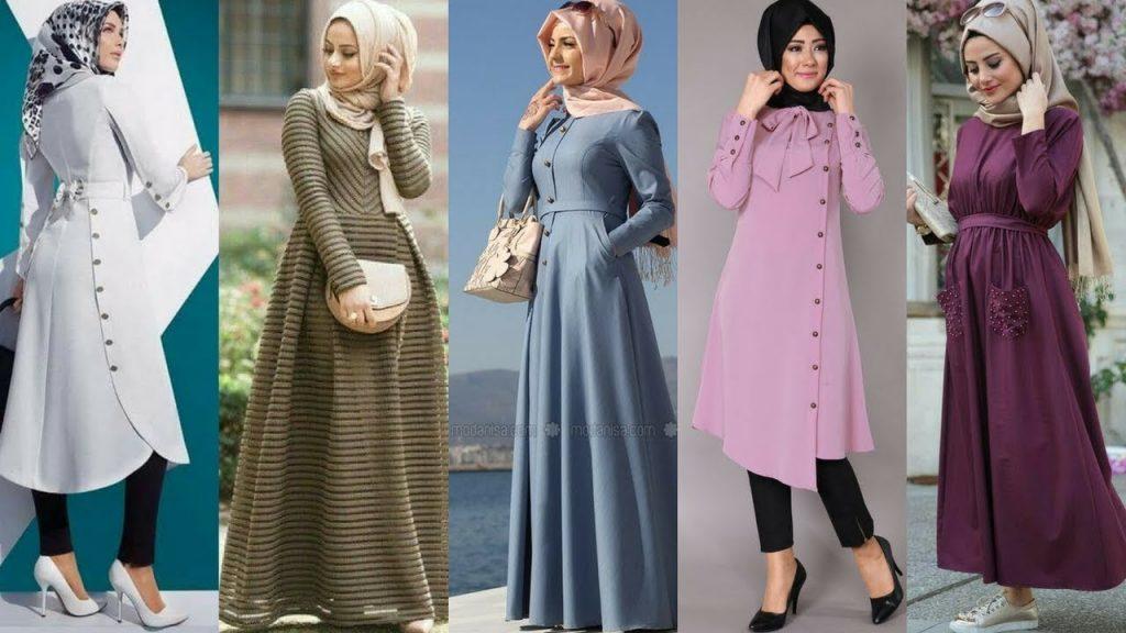 بالصور ملابس محجبات 2019 , بنات محجبة بملابس احدث صيحات الموضة 178 8