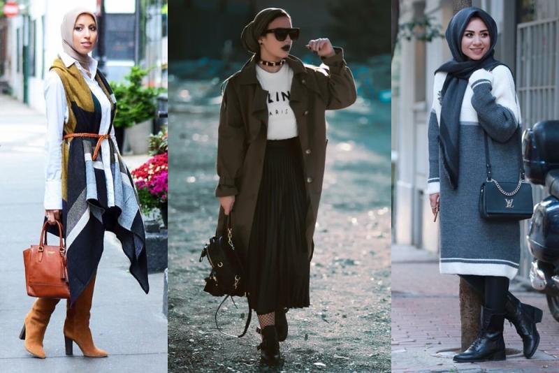 بالصور ملابس محجبات 2019 , بنات محجبة بملابس احدث صيحات الموضة 178