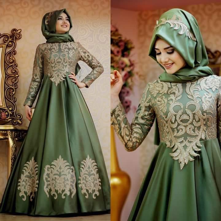 بالصور صور فساتين سهرة للمحجبات , صورة اجمل فستان للحجاب 2143 11