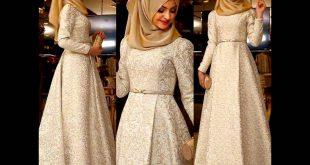 صوره صور فساتين سهرة للمحجبات , صورة اجمل فستان للحجاب