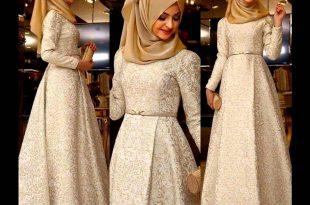 بالصور صور فساتين سهرة للمحجبات , صورة اجمل فستان للحجاب 2143 12 310x205