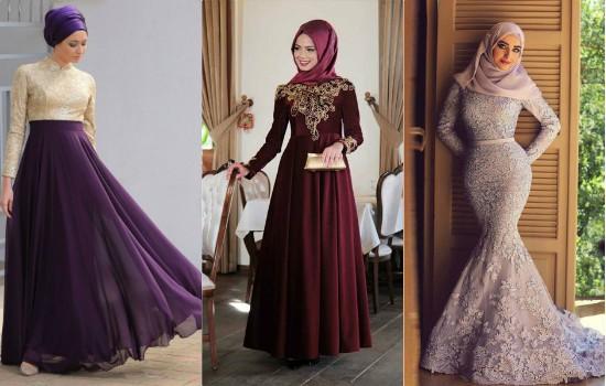 بالصور صور فساتين سهرة للمحجبات , صورة اجمل فستان للحجاب 2143 3