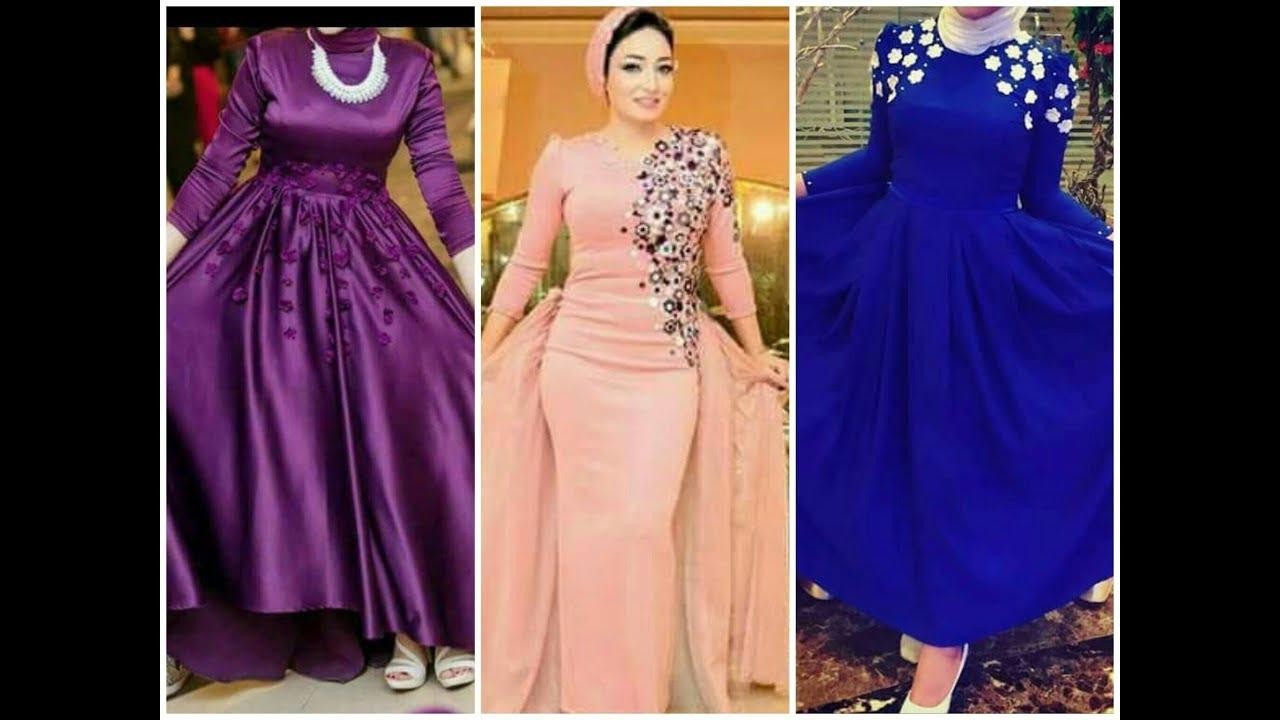 بالصور صور فساتين سهرة للمحجبات , صورة اجمل فستان للحجاب 2143 4