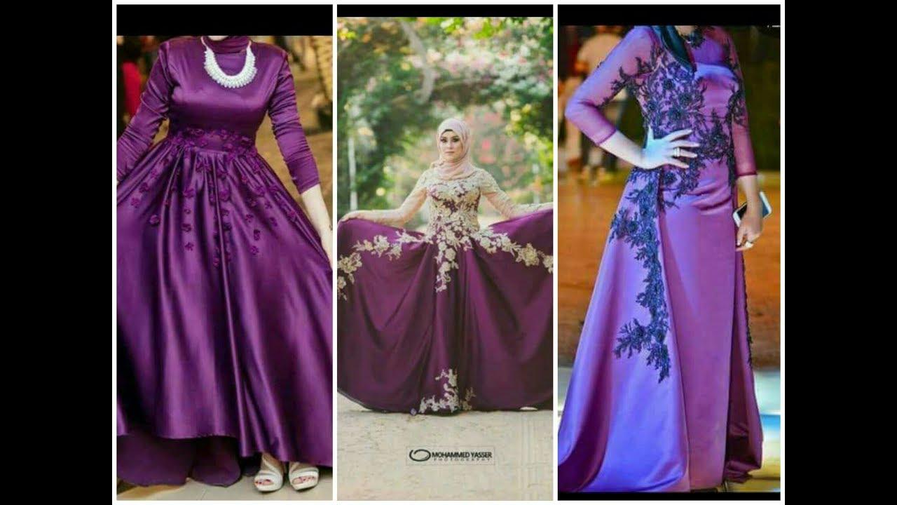 بالصور صور فساتين سهرة للمحجبات , صورة اجمل فستان للحجاب 2143 5