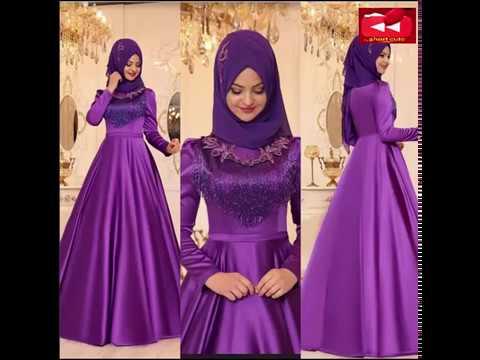 بالصور صور فساتين سهرة للمحجبات , صورة اجمل فستان للحجاب 2143 6