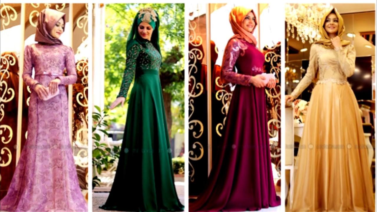 بالصور صور فساتين سهرة للمحجبات , صورة اجمل فستان للحجاب 2143 7
