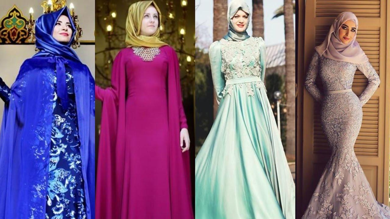 بالصور صور فساتين سهرة للمحجبات , صورة اجمل فستان للحجاب 2143 9