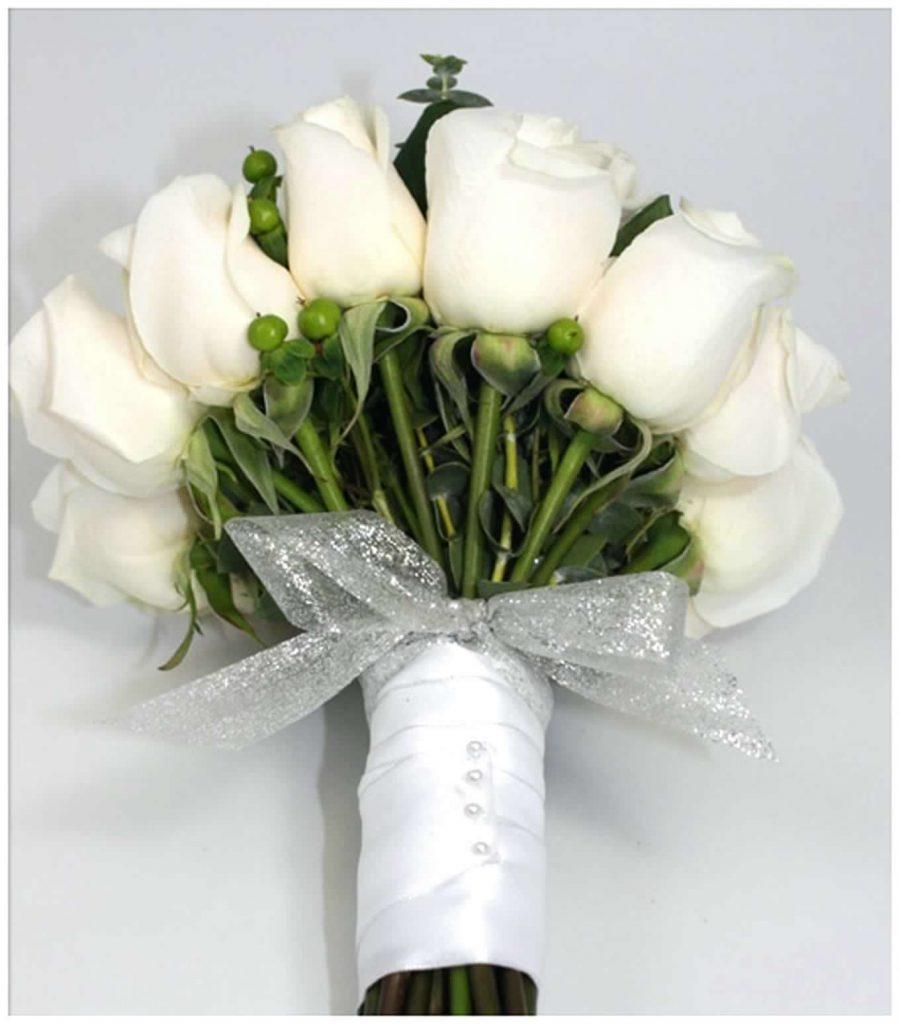 بالصور بوكيه ورد ابيض , اجمل باقات الورد الابيض 3661 2