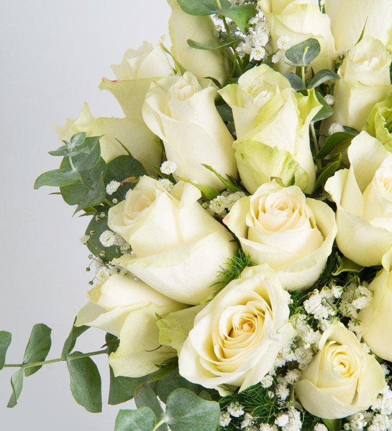 بالصور بوكيه ورد ابيض , اجمل باقات الورد الابيض 3661 3