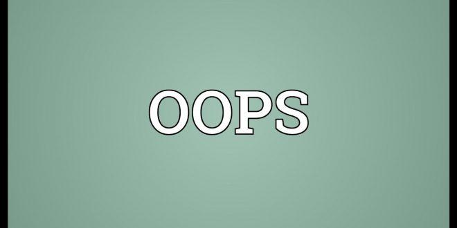 صورة معنى كلمة oops , معاني الكلام بالانجليزي