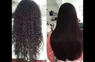 بالصور طريقة عمل البروتين للشعر في البيت , فرد الشعر في المنزل 12945 2 310x205