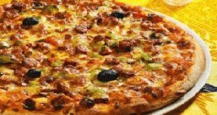 صور طريقة عمل البيتزا بالتونة , تحضير البيتزا في المنزل