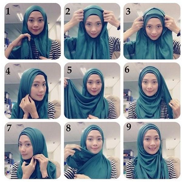بالصور كيفية لبس الحجاب , طرق حديثة للحجاب 13054 5