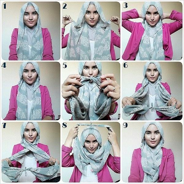 بالصور كيفية لبس الحجاب , طرق حديثة للحجاب 13054 7