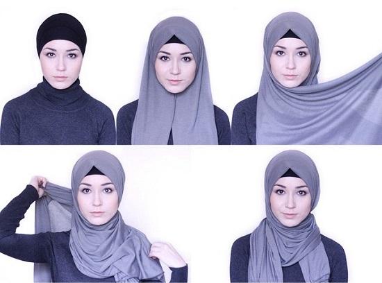 بالصور كيفية لبس الحجاب , طرق حديثة للحجاب 13054 9
