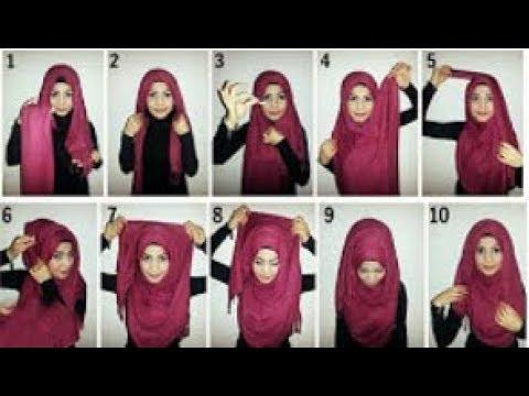 بالصور كيفية لبس الحجاب , طرق حديثة للحجاب 13054