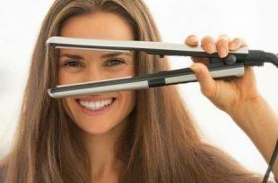 صورة كيفية استخدام مكواة الشعر بالصور , افضل استخدام لمكواة الشعر