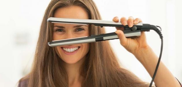 صور كيفية استخدام مكواة الشعر بالصور , افضل استخدام لمكواة الشعر