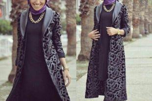 صورة ملابس شتوية للمحجبات تركية , ثياب فصل الشتاء مناسبه للحجاب من تركيا