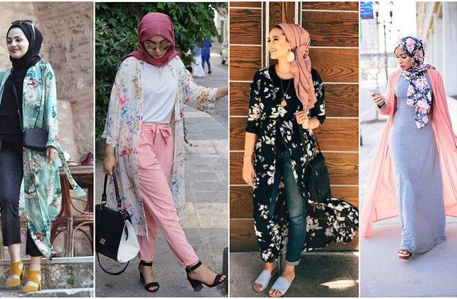 صورة موضة صيف 2019 للمحجبات , احدث موديلات صيفيه بالحجاب للمراه