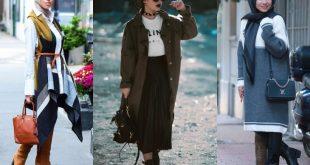 صورة البسة محجبات شتوية , اطلالات ملابس الشتاء بالحجاب