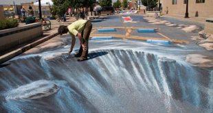 صور رسوم ثلاثية الابعاد في الشوارع , اروع رسومات 3d بالطريق