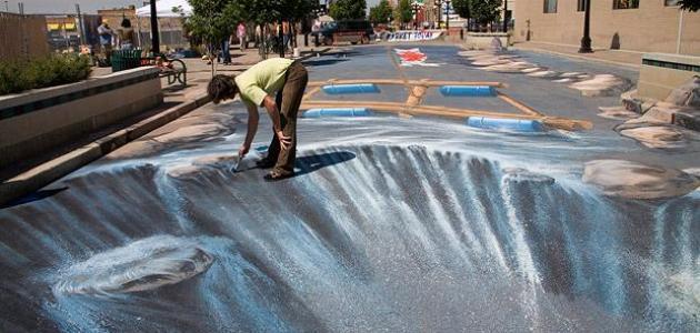 صورة رسوم ثلاثية الابعاد في الشوارع , اروع رسومات 3d بالطريق